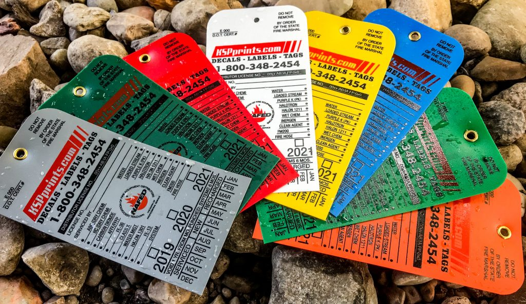 Plastic Inspection Tags